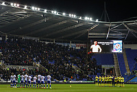 Blackburn Rovers and  Reading pay their respects to the late Gordon Banks<br /> <br /> Photographer Andrew Kearns/CameraSport<br /> <br /> The EFL Sky Bet Championship - Reading v Blackburn Rovers - Wednesday 13th February 2019 - Madejski Stadium - Reading<br /> <br /> World Copyright © 2019 CameraSport. All rights reserved. 43 Linden Ave. Countesthorpe. Leicester. England. LE8 5PG - Tel: +44 (0) 116 277 4147 - admin@camerasport.com - www.camerasport.com