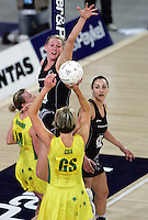18.07.2007 Silver Ferns Casey Williams in action during the Silver Ferns v Australia Fisher and Paykel Netball Test Match at Vector Arena, Auckland. Mandatory Photo Credit ©Michael Bradley Photography (Pic : Hannah Johnston)
