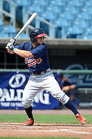 Michael Gettys (11) of Gainesville High School in Gainesville, Florida playing for the Atlanta Braves scout team during the East Coast Pro Showcase on July 31, 2013 at NBT Bank Stadium in Syracuse, New York.  (Mike Janes/Four Seam Images)