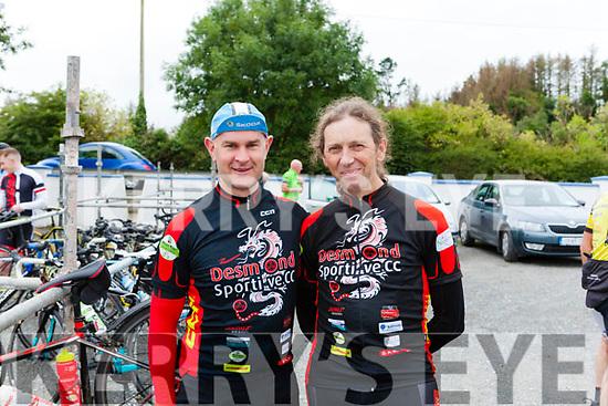 "Cyclists Diarmuid O' Riordan & Alan Dee members of Desmond Sportive Cycling Club Abbeyfeale Cycling Club held their annual 60K & 110K ""Abbey Classic Charity Cycle""  last Sunday"
