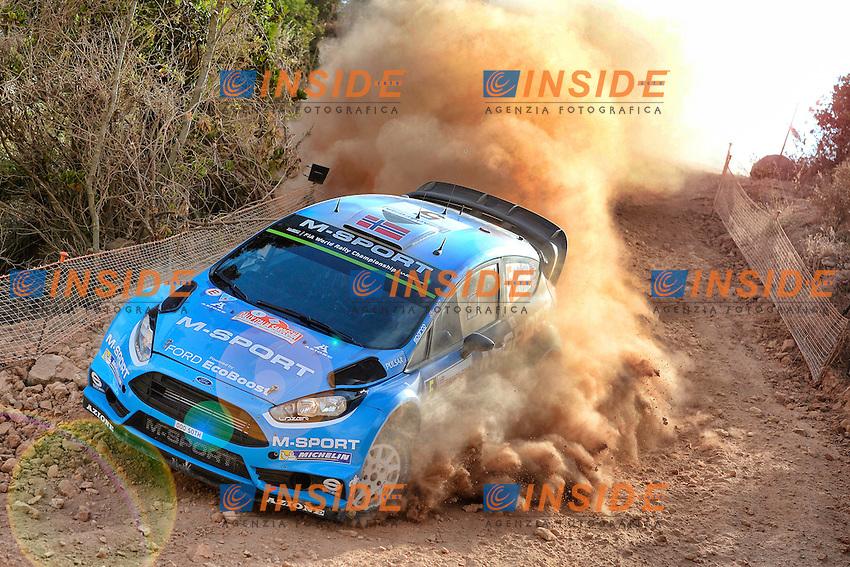 Mads Ostberg  ( NOR )   /  Ola Floene  ( NOR )  -  Ford Fiesta WRC <br /> Rally di Sardegna 2016 <br /> Foto Lavadinho / Panoramic / Insidefoto