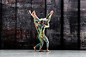 London, UK. 07.11.2019. Rambert presents RAMBERT EVENT, by Merce Cunningham, at Sadler's Wells. Choreography by Merce Cunningham, staging by Jeannie Steele, Music by Philip Selway, Quinta and Adem Ilhan, designs inspired by Gerhard Richter's 'Cage' series, performed by Rambert. The picture shows: Liam Francis, Adel Balint, Guillaume Queau. Photograph © Jane Hobson.