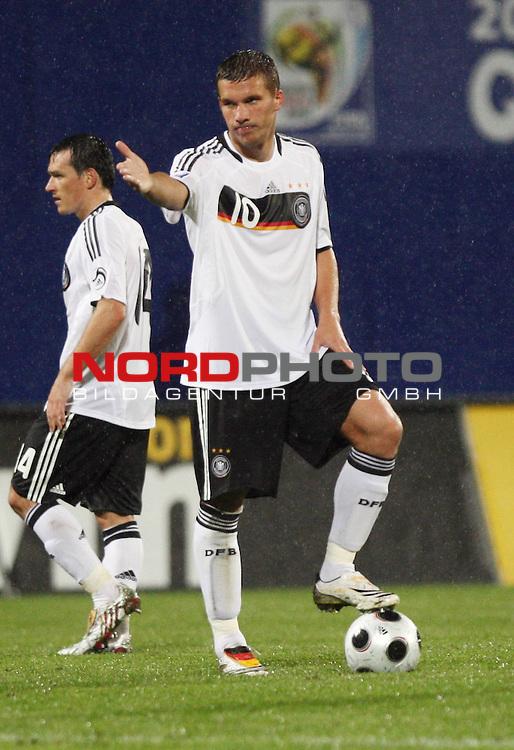 WM-Qualifikation 2010<br /> Lichtenstein : Deutschland<br /> <br /> Lukas Podolski (Deutschland #10)<br /> <br /> Foto &copy; nph (  nordphoto  )