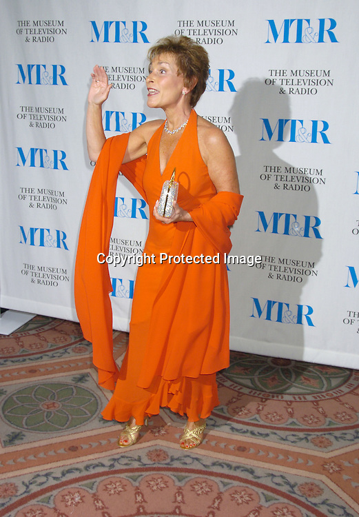Judge Judy Sheindlin ..at The Museum of TV and Radio New York Gala  honoring  Merv Griffin on May 26, 2005 at The Waldorf Astoria Hotel...Photo by Robin Platzer, Twin Images