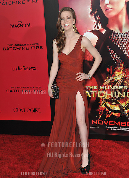 Elena Sanchez at the US premiere of her movie &quot;The Hunger Games: Catching Fire&quot; at the Nokia Theatre LA Live.<br /> November 18, 2013  Los Angeles, CA<br /> Picture: Paul Smith / Featureflash