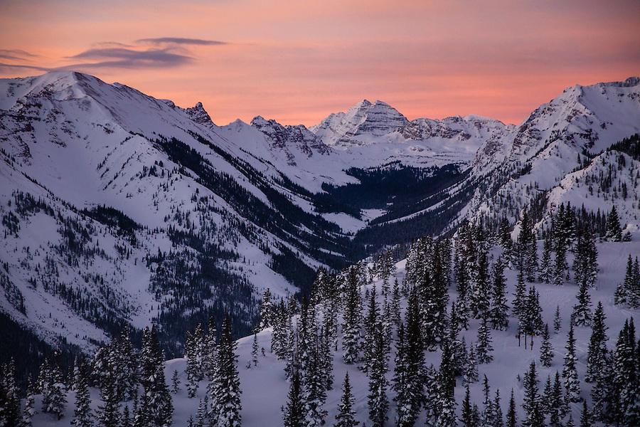 Maroon Bells and Willow Creek Valley
