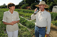 Raoul Adamchak teaches organic farming at the University of California, Davis. His wife, Pam Ronald, heads the UC Davis Plant Genomics Program research lab at UC Davis. (photo by Pico van Houtyve)
