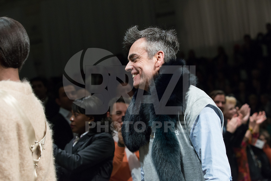LISBOA, PORTUGAL, 09.03.2014 - LISBOA FASHION WEEK - FILIPE FAISCA - Modelo durante desfile da grife FILIPE FAISCA no Lisboa Fashion Week no Pátio da Galé em Lisboa capital de Portugal, nesse domingo, 09. (Foto: Bruno Pereira / Brazil Photo Press).