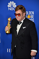 LOS ANGELES, USA. January 05, 2020: Elton John in the press room at the 2020 Golden Globe Awards at the Beverly Hilton Hotel.<br /> Picture: Paul Smith/Featureflash