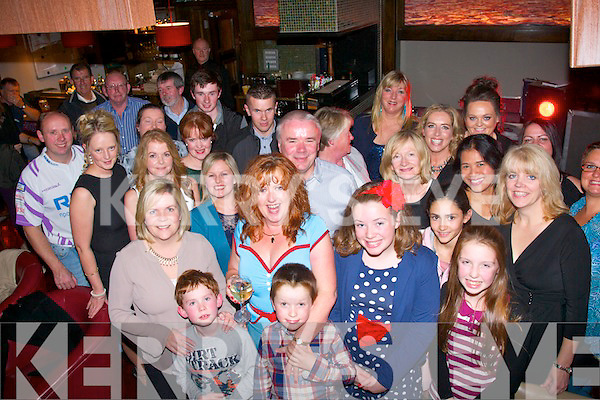 NIFTY SURPRISE: Pauline Lynch, Derrymore East, Tralee (front centre) got a fantastic surprise last Saturday night when she walked into Gally's, Tralee only to find a massive 50th birthday bash organised for her by her family and friends.