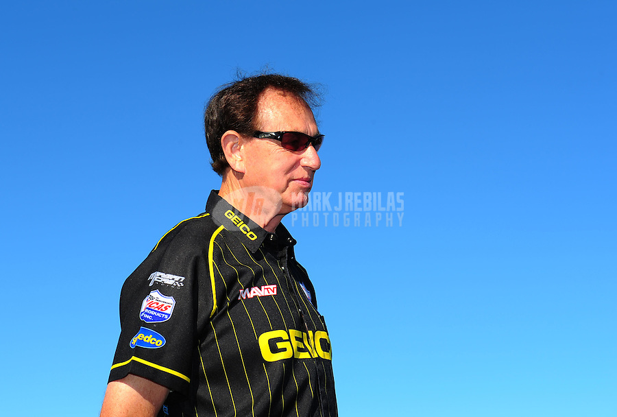 Aug. 21, 2011; Brainerd, MN, USA: NHRA sponsor Forrest Lucas during the Lucas Oil Nationals at Brainerd International Raceway. Mandatory Credit: Mark J. Rebilas-