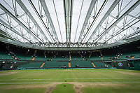 Centre Court with the roof on on the morning of the Ladies' Final<br /> <br /> Photographer Ashley Western/CameraSport<br /> <br /> Wimbledon Lawn Tennis Championships - Day 12 - Saturday 15th July 2017 -  All England Lawn Tennis and Croquet Club - Wimbledon - London - England<br /> <br /> World Copyright &not;&copy; 2017 CameraSport. All rights reserved. 43 Linden Ave. Countesthorpe. Leicester. England. LE8 5PG - Tel: +44 (0) 116 277 4147 - admin@camerasport.com - www.camerasport.com