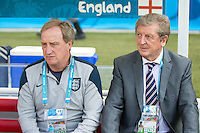 England manager Roy Hodgson his assistant manager Ray Lewington