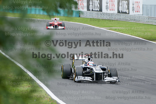 Williams Formula One driver Rubens Barrichello of Brazil drives during the  Qualifyer of the Hungarian F1 Grand Prix in Mogyorod (about 20km north-east from Budapest), Hungary. Saturday, 30. July 2011. ATTILA VOLGYI