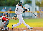 18 August 2012: Vermont Lake Monsters infielder Daniel Robertson in action against the Brooklyn Cyclones at Centennial Field in Burlington, Vermont. The Lake Monsters defeated the Cyclones 4-1 in NY Penn League action. Mandatory Credit: Ed Wolfstein Photo