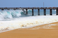 Big Waves At Newport Beach Pier