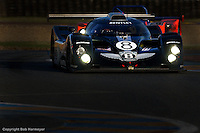 LE MANS, FRANCE: The Team Bentley EXP Speed 8 002/6 of  Eric van de Poele, Butch Leitzinger and Andy Wallace is driven during practice for the 24 Hours of Le Mans on June 16, 2002, at Circuit de la Sarthe in Le Mans, France.