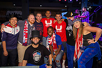 Eric Lichaj and Zack Steffen meet with fans attending a U.S. Soccer Sunday Kick-off Series Event at Nashville Underground on Sunday, September 9, 2018 in Nashville, TN.