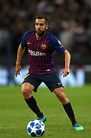 Jordi Alba of FC Barcelona during Tottenham Hotspur vs FC Barcelona, UEFA Champions League Football at Wembley Stadium on 3rd October 2018