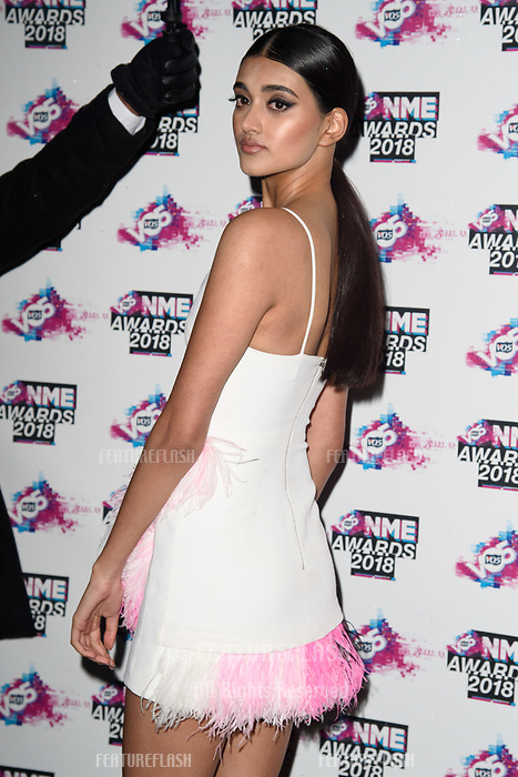 Neelam Gill at the VO5 NME Awards 2018 at the Brixton Academy, London, UK. <br /> 14 February  2018<br /> Picture: Steve Vas/Featureflash/SilverHub 0208 004 5359 sales@silverhubmedia.com