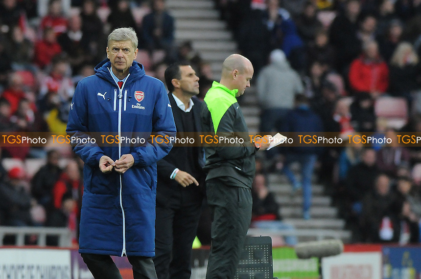 Arsenal manager Arsène Wenger - Sunderland AFC vs Arsenal - Barclays Premier League Football at the Stadium of Light, Sunderland - 25/10/14 - MANDATORY CREDIT: Steven White/TGSPHOTO - Self billing applies where appropriate - contact@tgsphoto.co.uk - NO UNPAID USE