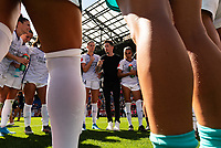 HARRISON, NJ - SEPTEMBER 29: Orlando Pride head coach Marc Skinner during a game between Orlando Pride and Sky Blue FC at Red Bull Arena on September 29, 2019 in Harrison, New Jersey.
