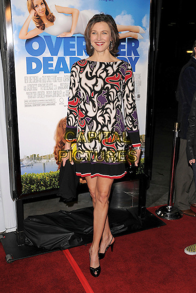 BRENDA STRONG .Attends New Line Cinema's L.A. Premiere of Over Her Dead Body held at The Arclight Theatre in Hollywood, California, USA, January 29th 2008..full length black white red print patterned dress.CAP/DVS.©Debbie VanStory/Capital Pictures