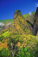 1,200-foot Iao Needle, Iao Valley State Park, Wailuku, Maui