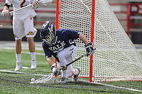 College Park, MD - February 25, 2017: Yale Bulldogs Phil Huffard (35) makes a save during game between Yale and Maryland at  Capital One Field at Maryland Stadium in College Park, MD.  (Photo by Elliott Brown/Media Images International)