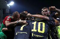 Calcio, Serie A: Frosinone-Juventus, Benito Stirpe stadium, Frosinone, September 23, 2018. <br /> Juventus' Cristiano Ronaldo celebrates after scoring with his teammates during the Italian Serie A football match between Frosinone and Juventus at Frosinone stadium on September 23, 2018.<br /> UPDATE IMAGES PRESS/Isabella Bonotto