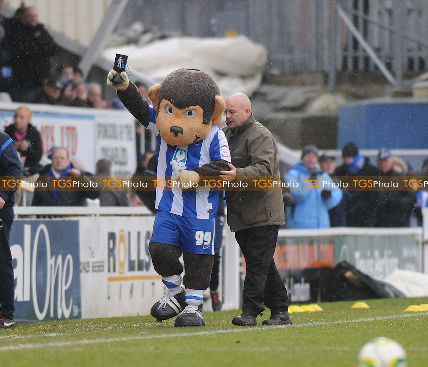 Hartlepool United mascot Angus pre kick off - Hartlepool United vs Yeovil Town - NPower League One Football at Victoria Park, Hartlepool - 09/03/13 - MANDATORY CREDIT: Steven White/TGSPHOTO - Self billing applies where appropriate - 0845 094 6026 - contact@tgsphoto.co.uk - NO UNPAID USE.