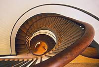 Spiral stairway, Trustees Office, Shaker Village of Pleasant Hill, Kentucky