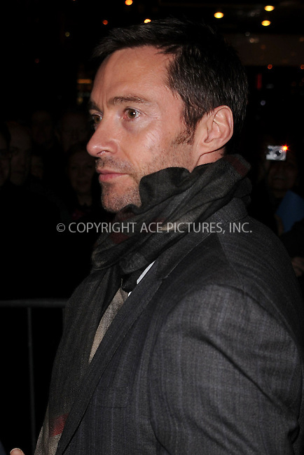 WWW.ACEPIXS.COM . . . . . ....January 24 2010, New York City....Actor Hugh Jackman leaves the Cort Theatre following the opening night of 'A View from a Bridge' on January 24 2010 in New York City....Please byline: KRISTIN CALLAHAN - ACEPIXS.COM.. . . . . . ..Ace Pictures, Inc:  ..(212) 243-8787 or (646) 679 0430..e-mail: picturedesk@acepixs.com..web: http://www.acepixs.com