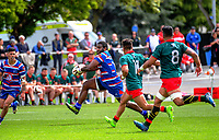 Timoci Seruwalu in action during the 2018 Heartland Championship Lochore Cup rugby final between Horowhenua Kapiti and Wairarapa Bush at Levin Domain in Levin, New Zealand on Sunday, 28 October 2018. Photo: Dave Lintott / lintottphoto.co.nz