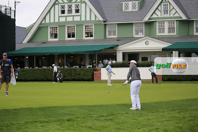 Paul Casey (ENG) chips onto the 9th green during Friday's Round 1 of the 2016 U.S. Open Championship held at Oakmont Country Club, Oakmont, Pittsburgh, Pennsylvania, United States of America. 17th June 2016.<br /> Picture: Eoin Clarke | Golffile<br /> <br /> <br /> All photos usage must carry mandatory copyright credit (&copy; Golffile | Eoin Clarke)