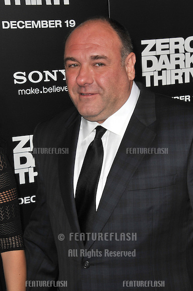 """James Gandolfini at the premiere of his movie """"Zero Dark Thirty"""" at the Dolby Theatre, Hollywood..December 10, 2012  Los Angeles, CA.Picture: Paul Smith / Featureflash"""