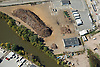 Aerial view of scrap metal processor facility at the Port of Wilmington, DE