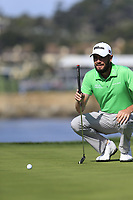 Troy Merritt (USA) on the 7th green during Sunday's Final Round of the 2018 AT&amp;T Pebble Beach Pro-Am, held on Pebble Beach Golf Course, Monterey,  California, USA. 11th February 2018.<br /> Picture: Eoin Clarke | Golffile<br /> <br /> <br /> All photos usage must carry mandatory copyright credit (&copy; Golffile | Eoin Clarke)