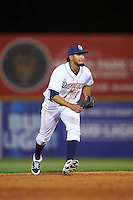 San Antonio Missions shortstop Jose Rondon (6) during a game against the Midland RockHounds on April 22, 2016 at Nelson W. Wolff Municipal Stadium in San Antonio, Texas.  San Antonio defeated Midland 8-4.  (Mike Janes/Four Seam Images)