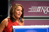 January 26, 2012  (Washington, DC)  CNN Newsroom anchor Suzanne Malveaux hosts the National Association of Black Journalists (NABJ) 2012 Hall of Fame Induction Ceremony.  (Photo by Don Baxter/Media Images International)