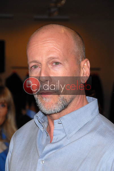 """Bruce Willis<br /> at a celebration of Jerry Weintraub's New Book """"When I Stop Talking You'll Know I'm Dead,"""" Barney's New  York, Beverly Hills, CA. 05-18-10<br /> David Edwards/Dailyceleb.com 818-249-4998"""