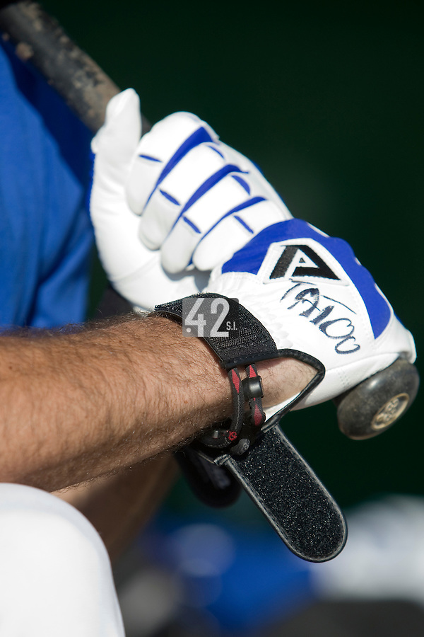 BASEBALL - GREEN ROLLER PARK - PRAGUE (CZECH REPUBLIC) - 23/06/2008 - PHOTO: CHRISTOPHE ELISE / FFBS.GLOVES FREDERIC ROUGE (TEAM FRANCE)