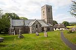 Village church of Saint Peter, Buckland in the Moor, Dartmoor national park, Devon, England, UK