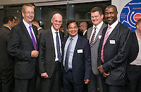 Kailash Suri, owner of Reel Cinemas is surrounded by Handlesbanken's Nick Lowe, Ian Davys, Mal Sutcliffe and Larick Walker