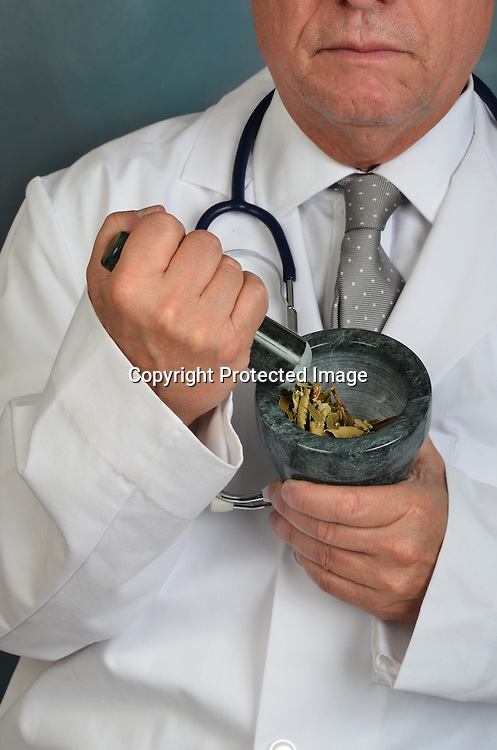 Stock photo of alternative medicine