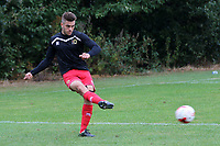 Finn Tapp of MK Dons U18's ahead of kick-off. Finley Tapp is the winner of the Love Island Winter Series in February 2020 with Paige Turley during Gillingham Under-18 vs Milton Keynes Dons Under-18, EFL Youth Alliance Football at Beechings Cross, Gillingham FC Training Ground on 8th October 2016