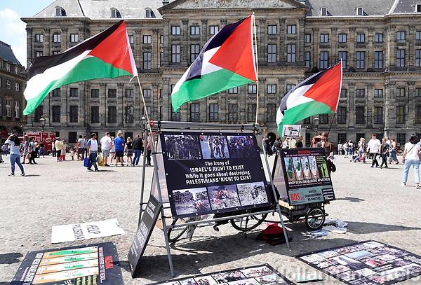 Nederland  Amsterdam - 2018. Palestijns protest op de Dam.  Foto Berlinda van Dam / Hollandse Hoogte.