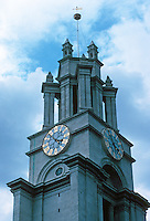 Nicholas Hawksmoor: St. Anne's Limehouse, London 1714-30. Tower detail. Photo '90.