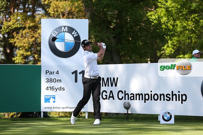 Gary Stal (FRA) during Round One of the 2015 BMW PGA Championship over the West Course at Wentworth, Virginia Water, London. Picture David Lloyd, www.golffile.ie: 21/05/2015