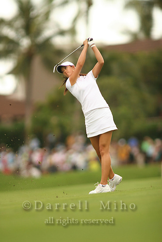 Feb 24, 2006; Kapolei, HI, USA; Michelle Wie hits an approach shot during the 2nd round of the LPGA Fields Open at Ko Olina Resort...Photo Credit: Darrell Miho.Copyright © 2006 Darrell Miho
